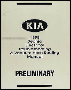 Details about 1998 Kia Sephia Electrical Troubleshooting Manual Wiring on chrysler aspen wiring diagram, saturn aura wiring diagram, saturn astra wiring diagram, suzuki sierra wiring diagram, kia rio shift solenoid, volkswagen golf wiring diagram, honda ascot wiring diagram, volvo amazon wiring diagram, chevrolet volt wiring diagram, kia automotive wiring diagrams, chevrolet hhr wiring diagram, kia rio ignition switch, fiat uno wiring diagram, suzuki x90 wiring diagram, dodge challenger wiring diagram, nissan 370z wiring diagram, chrysler 300m wiring diagram, geo storm wiring diagram, daihatsu rocky wiring diagram, kia rio water pump,