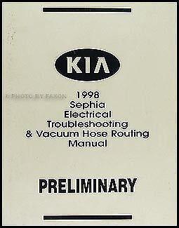 1998 Kia Sephia Electrical Troubleshooting Manual Wiring ...