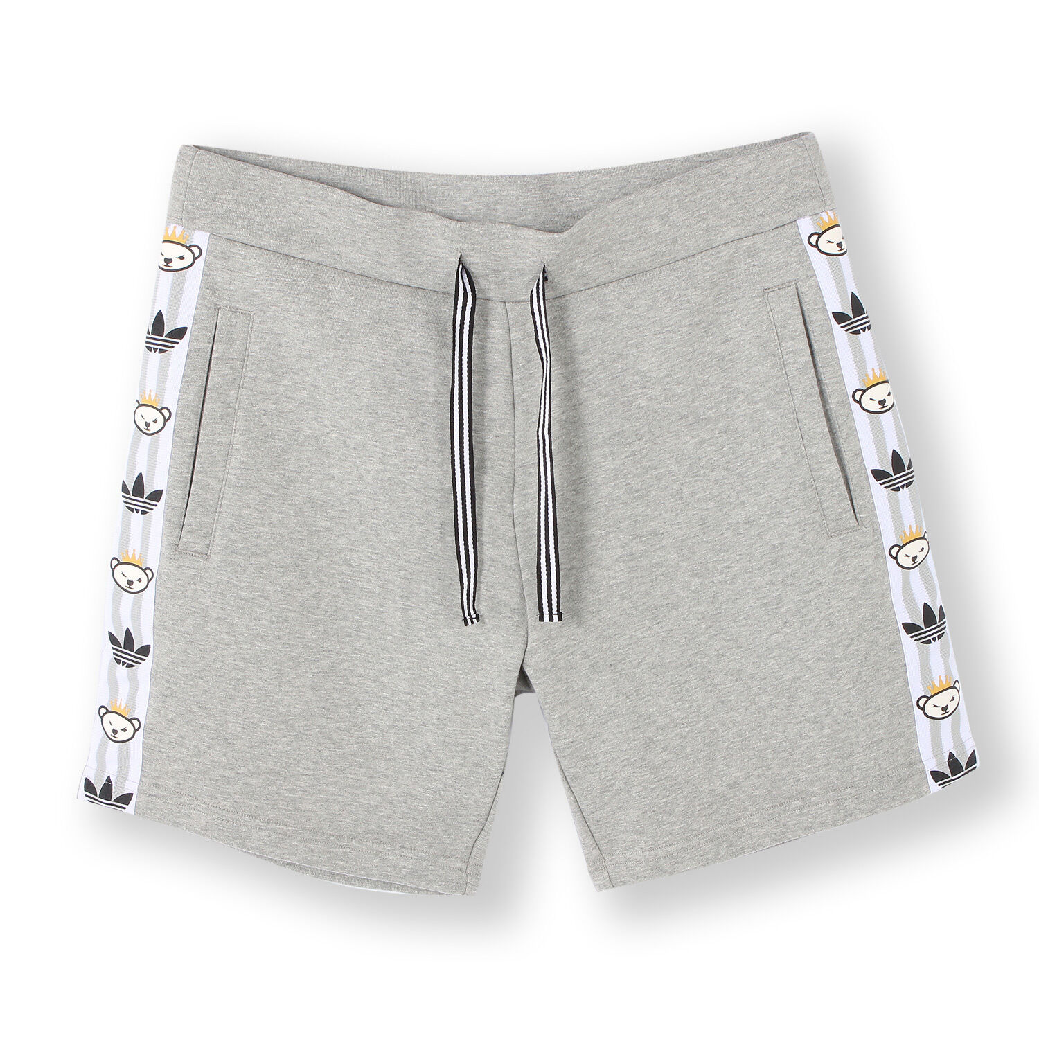 ADIDAS S24522 Nigo 25 LOGO Mid-Grey Heather SPORT Drawstring SHORTS Free Ship