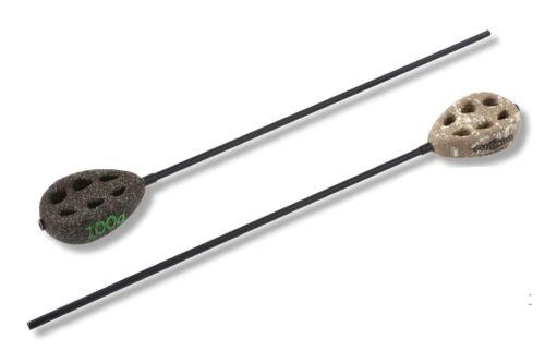 Inline Leads Method Karpfenblei Grundblei mit Anti Tangle 40g 100g Grün//Sand