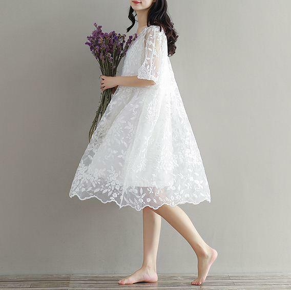 Summer Women's sleeve bubble loose floral girls lace Sweet Lolita dresses party