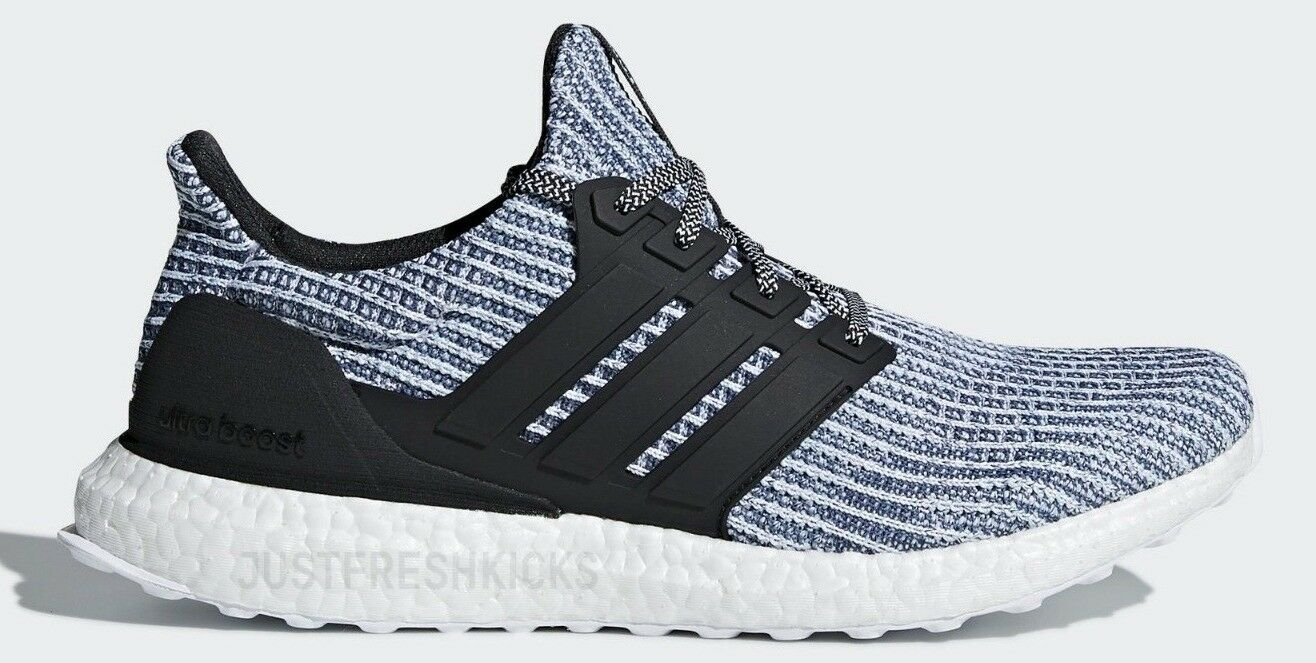 5848427ae ADIDAS ULTRABOOST PARLEY MENs RUNNING WHITE - CARBON - blueE SPIRIT  AUTHENTIC NEW