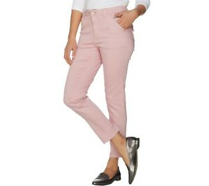 Isaac-Mizrahi-Women-039-s-TRUE-DENIM-Petite-Colored-Denim-Ankle-Jeans-Size-6P-QVC