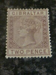 GIBRALTAR-POSTAGE-STAMP-SG10-TWO-PENCE-LIGHTLY-MOUNTED-MINT