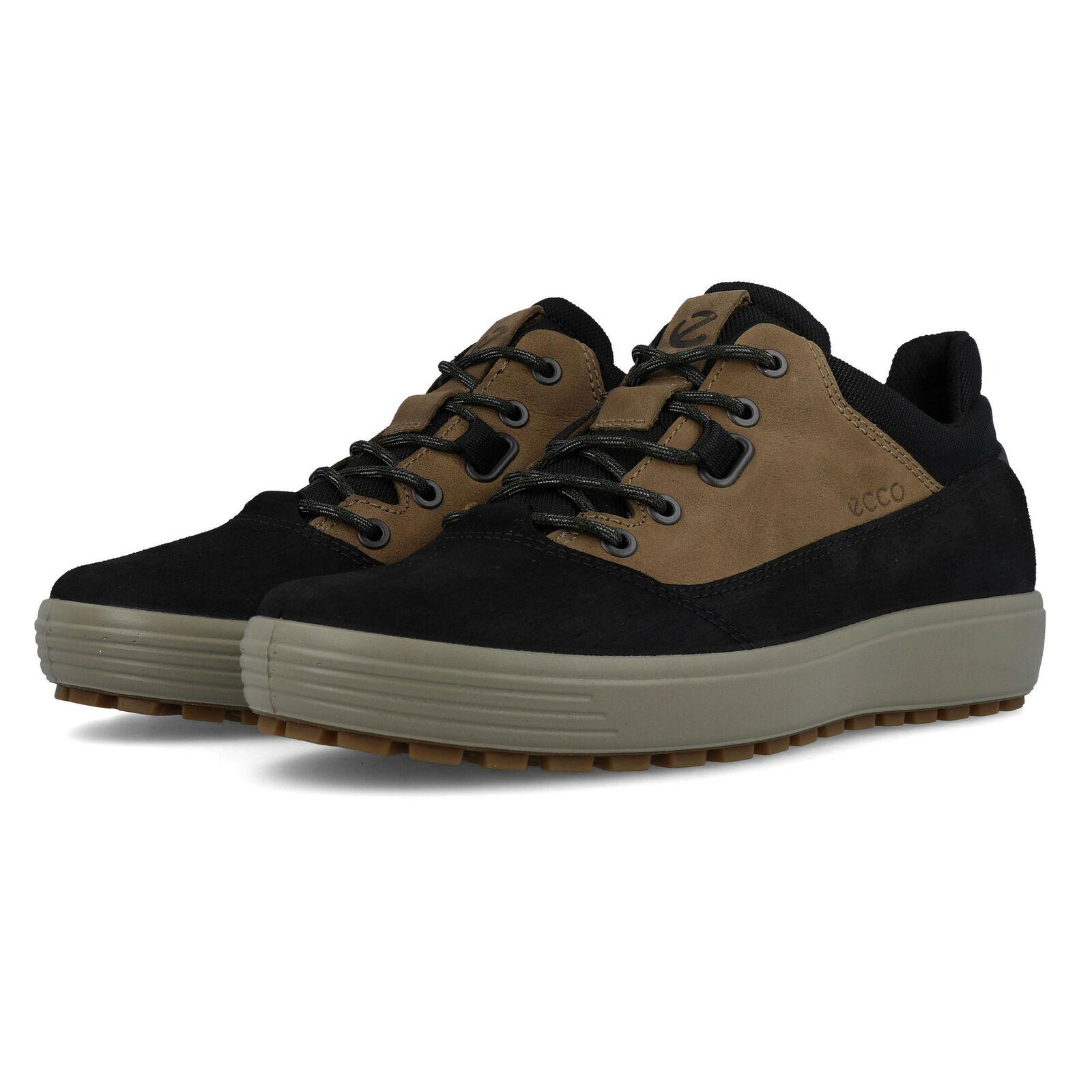 Ecco mannens Soft 7 Tnetwerk wandelen schoen --zwart bruin Sports Buitenshuis Water Resistent