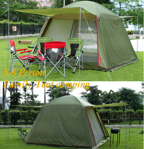 Outdoor Family Camping 5-8  Person Instant Tent double layer gazebo sun shelter  order online