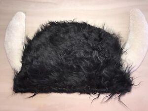 Furry Black Viking Hat