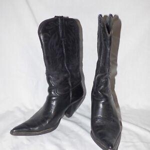 785e209519ff7 CHARLIE 1 HORSE LADIES LEATHER BOOTS BLACK W  BLACK STITCHING SZ 9 B ...