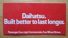 DAIHATSU Range orig 1983 UK Mkt brochure - Domino Fourtrak Charade Charmant 850
