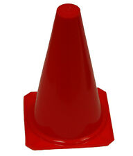"""RED 9"""" INCH SPORT CONES (SET OF 12) SAFETY CONE FIELD TRAINING SOCCER ATHLETIC"""