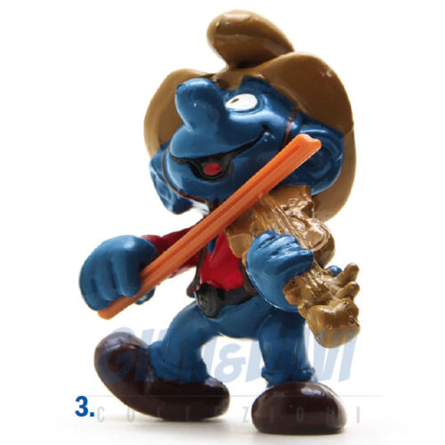 PUFFO PUFFI SMURF SMURFS SCHTROUMPF 2.0159 20159 Violin Cow Boy con violino 3A