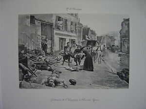 Estampe-originale-Paul-Emile-BOUTIGNY-Lendemain-de-Champigny-a-Bry-Sur-Marne