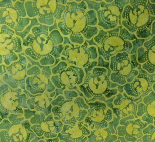 Timeless Treasures TONGA KIWI Per 1//2 Yd 100/% Premium Quality Batik Fabric