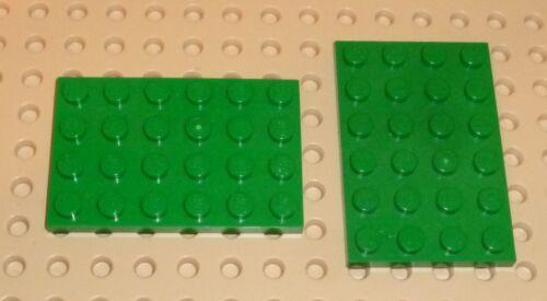 x 2 4 x 6 GREEN Plate LEGO part 3032 GN37