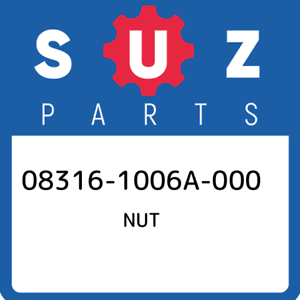 08316-1006A-000-Suzuki-Nut-083161006A000-New-Genuine-OEM-Part