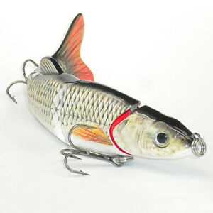 NE-IG-EB-5-Segments-Fishing-Lure-Crank-Bait-Hooks-3D-Eyes-Fish-Shape-Tackle-T
