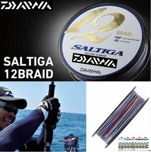 300M Daiwa Saltiga 12 Strand Round Braided Line Multicolor