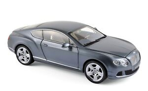 Bentley Continental Gt 2010 Thunder Grey Minichamps 1/18° Neuve En Boite
