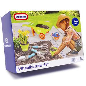 Little-Tikes-7-Piece-Kids-Wheelbarrow-Gardening-Tools-Set-Outdoor-Garden-Toy-Set