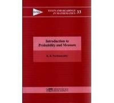 1 of 1 - Introduction to Probability and Measure (Texts and Readings in Mathematics), K.R
