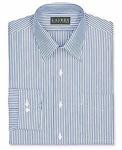 b2c0cccc Lauren Ralph Lauren Non-Iron Slim-Fit Blue Bengal Stripe Dress Shirt ...