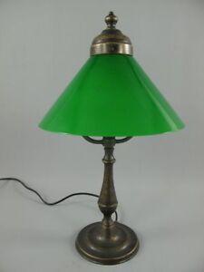 Charming Das Bild Wird Geladen G1059 Viktorianische Tischlampe Messing Lampe Gruener  Schirm Schreibtischlampe