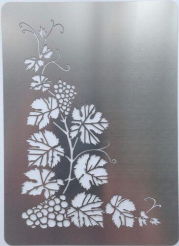 Escalade vigne coin métalliques en acier inoxydable stencil template 12.5cm x 8.5cm
