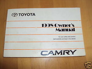 1998 toyota camry owners manual 98 camry manual vgc ebay rh ebay com 1998 Toyota Camry Suspension 1998 Toyota Camry Maintenance Schedule