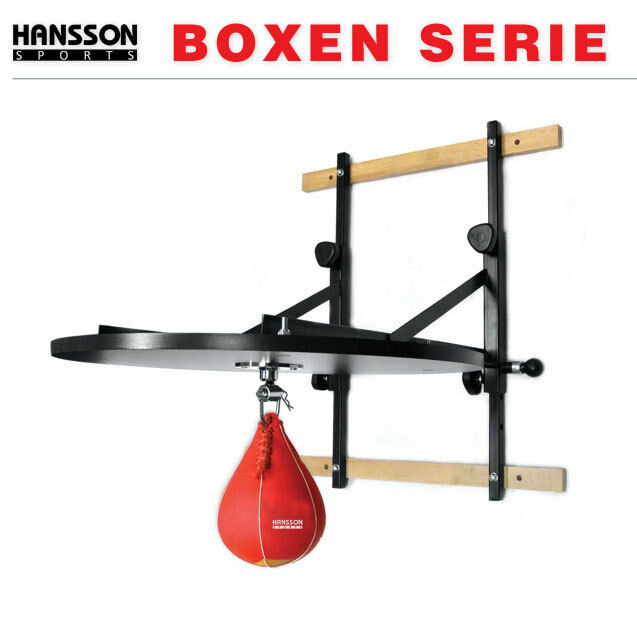 HANSSON.SPORTS Boxen Set Punchingball Speedball Set Boxen PRO verstellbare Plattform f49309