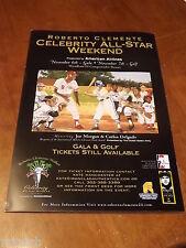 2004 Roberto Clemente Celebrity Golf Event Poster - Joe Morgan & Carlos Delgado