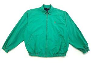 Vintage-Polo-Sport-Ralph-Lauren-Zip-Up-Jacket-Green-Size-Small