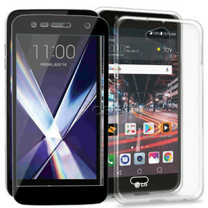 quality design 883f0 823bd Details about Anti-Shatter Screen Protector + Back Bumper Protection Case  for LG X Charge M327