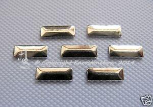 100 Hot Fix Métal Formes Repasser Rectangle Or 2,5 X 7 Mm Strass Karostonebox-afficher Le Titre D'origine