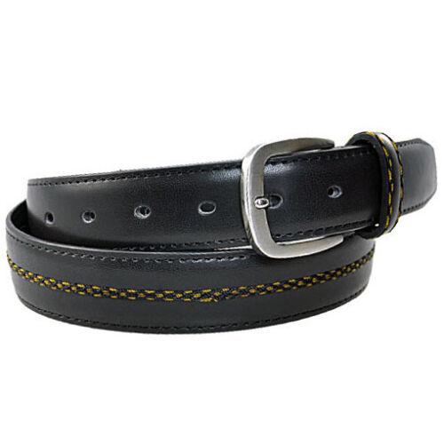 Damen Herren Gürtel mit Leder Rückseite schwarz 3,3 cm breit kürzbar Jeansgürtel