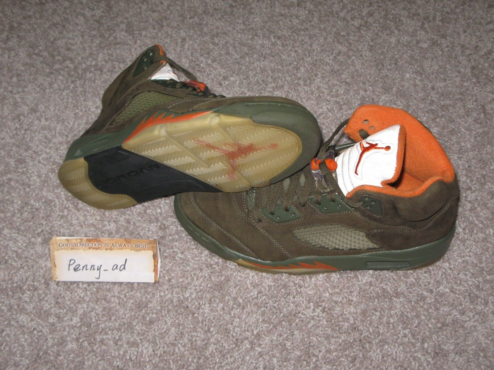 2006 Air Jordan V 5 Retro UNDFTD Dimensione 9.5 Olive Olive Olive Undefeated Bin Fear 4dbd27