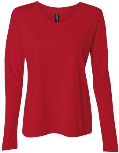ZUZIFY Ladies Junior Fit Long Sleeve Performance T-Shirt KR0382