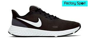 Detalles de Nike Revolution 5 negro y blanco Zapatillas Deportivas Running  para Hombre