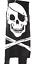 Pirate Skull /& Crossbones Flag Super 5/' Windsock