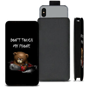 Dont-Touch-My-Phone-Bear-PU-Leather-Pull-Tab-Case-For-5-034-ZTE-Maven-2