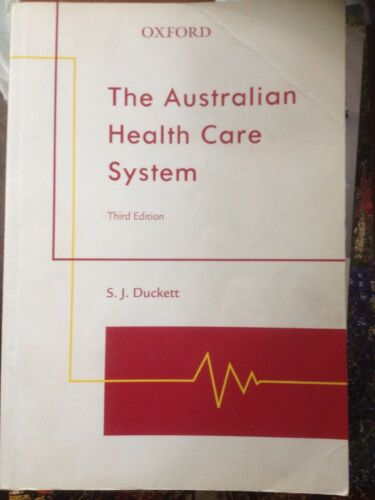 1 of 1 - The Australian Health Care System - S.J. Duckett Pb