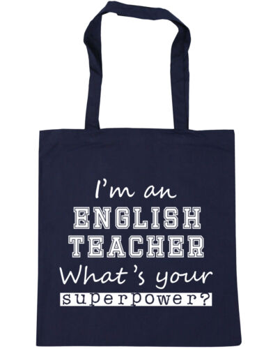 I/'m a English Teacher what/'s your superpower Tote Shopping Gym Beach Bag 42cm x
