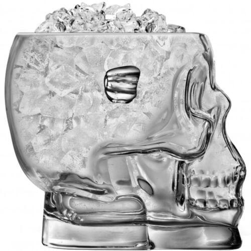 Brain Freeze Eiswürfelbehälter Totenkopf Eiskübel Eiskühler Schädel Glas Gehirn