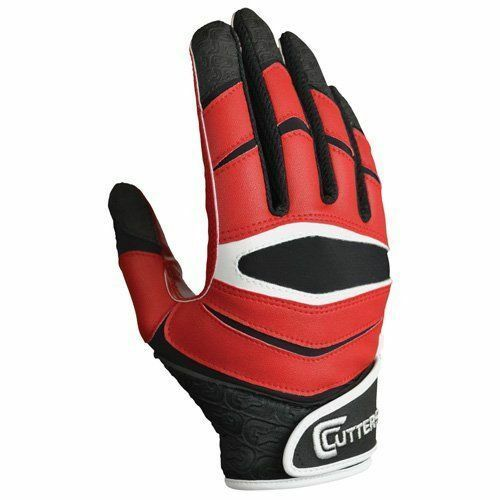 Cutters Mens X40 C Tack Revolution M Red Football Receiver Gloves