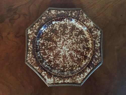 Style Porcelain Plate Mochaware Williamsburg MMA Brown Agate Whieldon 18th c