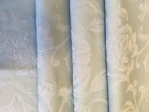 Laura Ashley Fleur Upholstery Fabric Remnant In Duck Egg 138 X 210cm