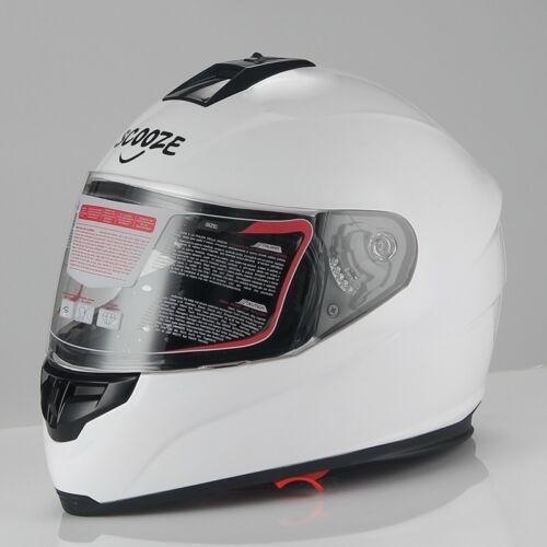 M Helm Integralhelm Doppelvisier Sonnenblende Motorradhelm Weiß Gr