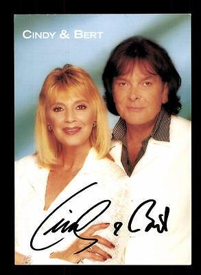Musik FleißIg Cindy Und Bert Autogrammkarte Original Signiert ## Bc 88324