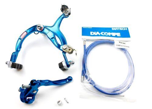 Genuine Dia-Compe MX1000 Old School BMX MX121 Rear Brake Kit Dark Blue