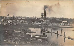 C82-Hill-City-Minnesota-Mn-Real-Photo-RPPC-Postcard-039-18-Lumber-Company-Factory