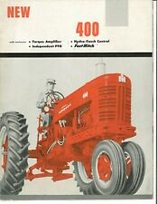 Ih Mccormick Farmall 400 With Fast Hitch Tractor Implement Color Brochure Ta Ipto